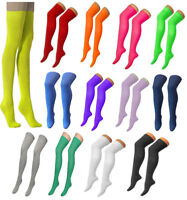 Womens Plain Lycra OTK Socks Ladies Stretch over the Knee Party ware Socks
