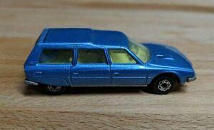 Vintage Matchbox Lesney Superfast 1979 #12 Citroen CX Light Blue Silver
