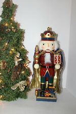 "Vtg Kirkland Hand Crafted & Painted ""Toy & Gift King"" Wooden Nutcracker, Box"