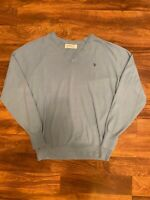 Christian Dior Monsieur Mens Pullover Cashmere Blend Sweater Sz XL Baby Blue