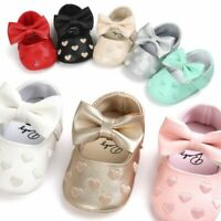 Newborn Baby Girl Soft Crib Shoes Infants Anti-slip Sneaker Prewalker 0-18M US