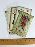 Lot 8 Antique 1900's John Winsch Christmas Postcards Embossed Germany Divided