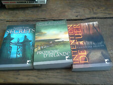 Lot de 3 livres éditions Mira Secrets Promesse d'Irlande Intention de tuer