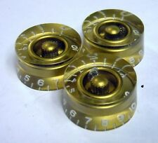 1985 Gibson Gold Barrel Knob Set of 3 Speed Knobs For Les Paul Standard Custom