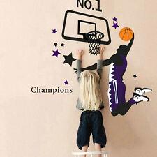 Basketball Dunk Sports Vinyl Decal Art Wall Sticker DIY Home Room Decor GFY