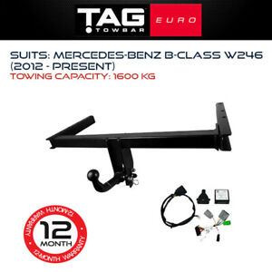 TAG Euro Towbar Fits Mercedes Benz B-Class 2012-Current Towing Capacity 1600Kg