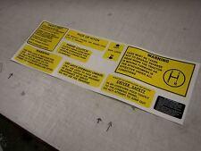 Leyland advertencia Stickers / Calcomanías