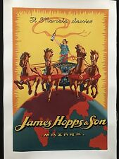 Original Vintage Poster James Hopps & Son ca. 1923