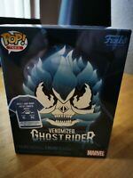 Funko Pop Marvel Venomized Blue Ghost Rider + Tee Shirt XL  in hand