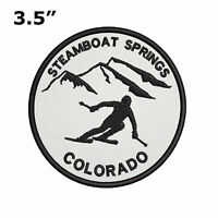 "Steamboat Springs, Colorado Extreme Skier 3.5"" Embroidered Iron or Sew-on Patch"