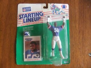 1988 Lawrence Taylor New York NY Giants Rookie Starting Lineup Figure & Card