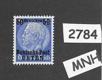 MNH / OSTEN overprint stamp 1940 Hindenburg 50GR German occupation Poland WWII