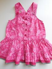 QUALITY 'SPROUT' BABY INFANT TODDLER GIRL PINK PINAFORE DRESS SIZE 1 *LIKE NEW