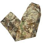 Unisex Hunting Pants Multicolor Brown Mossy Oak Elastic Waist Pull On Trousers M