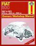 Haynes Workshop Manual Fiat 500 1957-1973 New Service Repair Maintenance