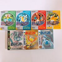 Pokemon Green Red Yellow Blue Silver Gold Crystal Pocket Monsters GameBoy GB VG!