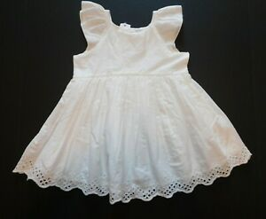 NWT Gap Baby Toddler Girl's White Eyelet Dress 12-18M 18-24M 2Yr/2T 3Yr/3T New