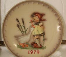 "M.I Hummel, Goebel 1974 Annual Plate ""Goose Girl"" No. 267 with Original Box"