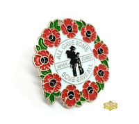Poppy Lapel Pin Badge Soldier Never Forget All Gave Some Red Green Enamel 35mm