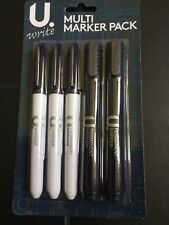 Multi Marker Pack Of 5, 1 Chisel Tip, 1 Bullet Tip And 3 Thin Tips.