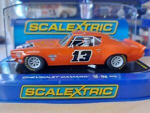 $1NR Scalextric C3001 Chevrolet Camaro #13 Orange   BNIB