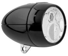NEW Axa Vintage / Retro LED Front Bike Head light Black batterylight + bracket