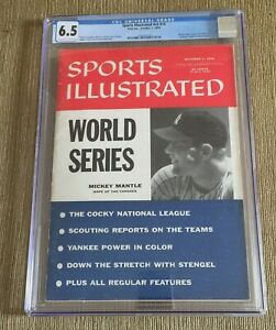 1956 Sports Illustrated Mickey Mantle All Star Newsstand CGC 6.5 Newsstand RARE
