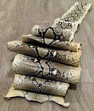 """Genuine Python Snake Skin Pelt Hide Natural 2.20 Meters 87"""" x 8"""" Arts Crafts"""