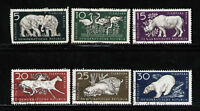 ALEMANIA RDA/EAST GERMANY 1956 USED SC.317/322 Berlin Zoo