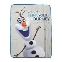 "Franco Kids Bedding Super Soft Plush Throw 46"" x 60"" Disney Frozen 2 Grey"