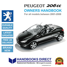 Peugeot 206cc NEW Car Owners Handbook Manual (2001 - 2008) * WITH FREE GIFT *
