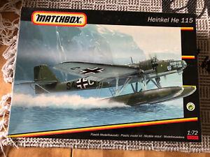 """Matchbox 40405 # Bausatz: Heinkel He 115 Flugzeug """" angebaut """" 1:72 ab 1,- Euro"""