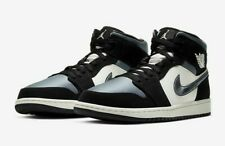 NIKE MEN'S AIR JORDAN 1 MID SE SATIN SMOKE GREY 852542-011 BRAND NEW