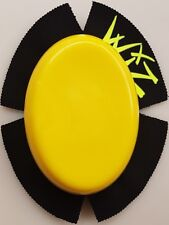 WIZ YELLOW TRAKPUX  CHUNKY KNEE SLIDERS FOR MOTORCYCLE RACING
