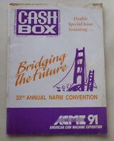 1991 CASH BOX MUSIC MAGAZINE PUBLICATION 33rD ANNUAL NARM CONVENTION