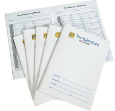 Temperature log book for HACCP records