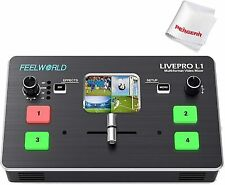 Feelworld Livepro L1 Real Time Live Streaming Switcher Video Mixer HDMI For DSLR