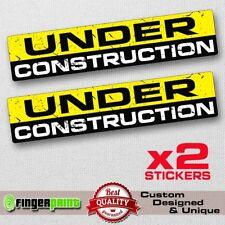UNDER CONSTRUCTION sticker decal vinyl funny bumper car jdm fast truck 4x4 DRIFT