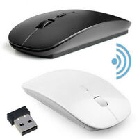 Wireless USB Mouse PC Ultra-slim Mouse +USB Dongle Computer Laptop 2.4GHz Mice