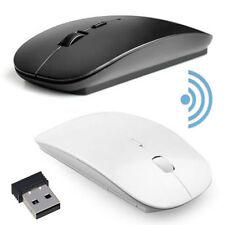 Mouse Inalámbrico USB PC Ultra Delgado Ratón + usb Dongle Ordenador portátil ratones 2.4GHz