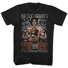 Andre the Giant Macho Man Randy Savage Battle of Giants T-shirt