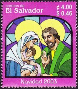 El Salvador - 2003 - 4 Colon Holy Family Christmas Religious Issue # 1590 F-VF +