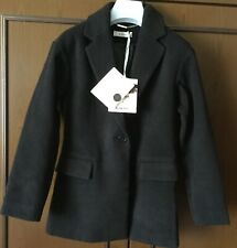 Coat baby TO BE TOO black, size 34, with two pockets Cappotto bimba, colore nero