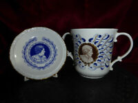 Royal Doulton MARGARET THATCHER First Woman Prime Minister LOVING CUP + Plate