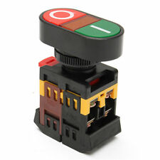 220V AC Yellow Light ON/OFF START STOP Momentary Push Button Switch 22mm 1 NO NC