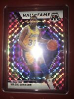 2019-20 Panini Mosaic Hall of Fame Pink Camo Prizm Magic Johnson #291 HOF