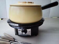 Vintage Regal Princess Automatic Electric Fondue Set Forks 2 Quart Party Cooker