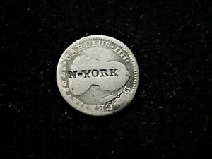 NY, NY LL Squire N-YORK counterstamp HT326 R9 1788 1 Real Spanish coin