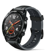 Huawei Watch GT 46.5 mm Black Stainless Steel Case with Graphite Black Band