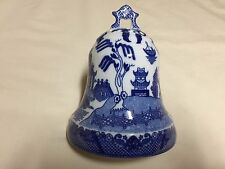 BLUE WILLOW BELL SHAPED HANGING HAT PIN HOLDER   PRICE REDUCED